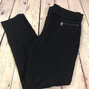 Ann Taylor Black Legging with Gold Zippers Size M